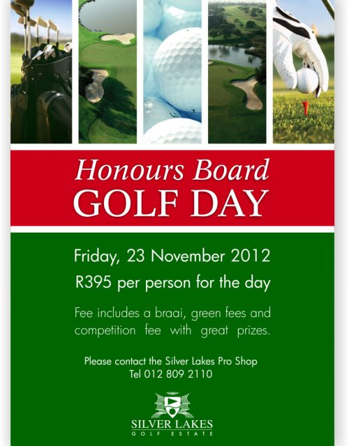 Honours Board Golf day