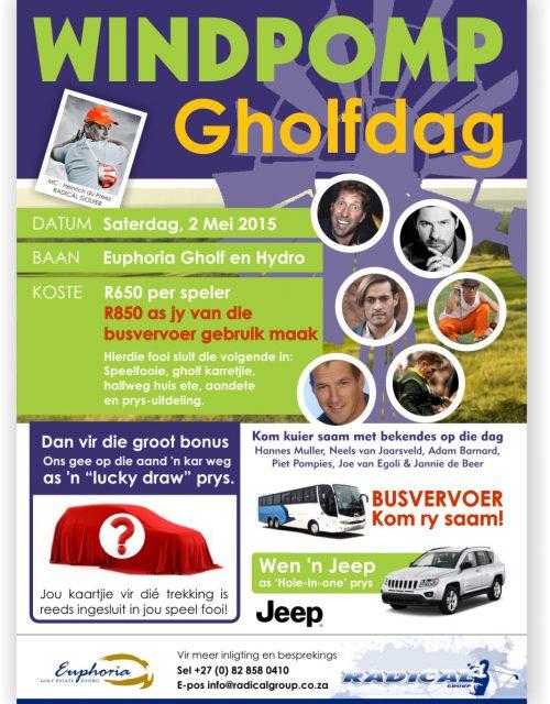 Windpomp Gholfdag Poster