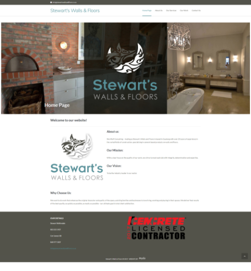 Stewarts Walls and Floor Website